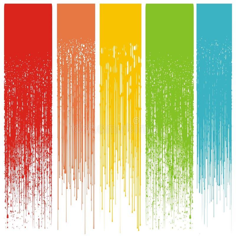 Gotejamentos abstratos Multicolor do grunge ilustração royalty free