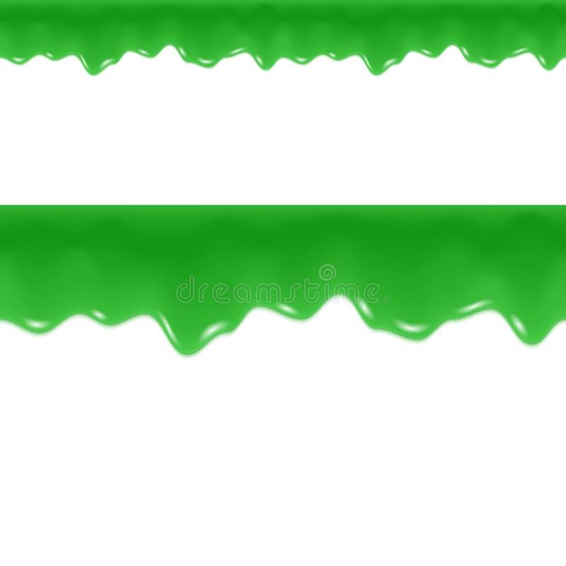Gotejamentos do limo Líquido de fluxo tóxico Beira sem emenda ilustração royalty free
