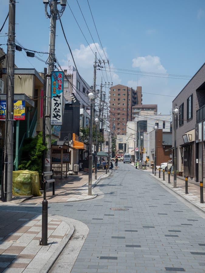 Gotenba-shi, rue de Shizuoka-ken dans Gotemba, Japon image libre de droits