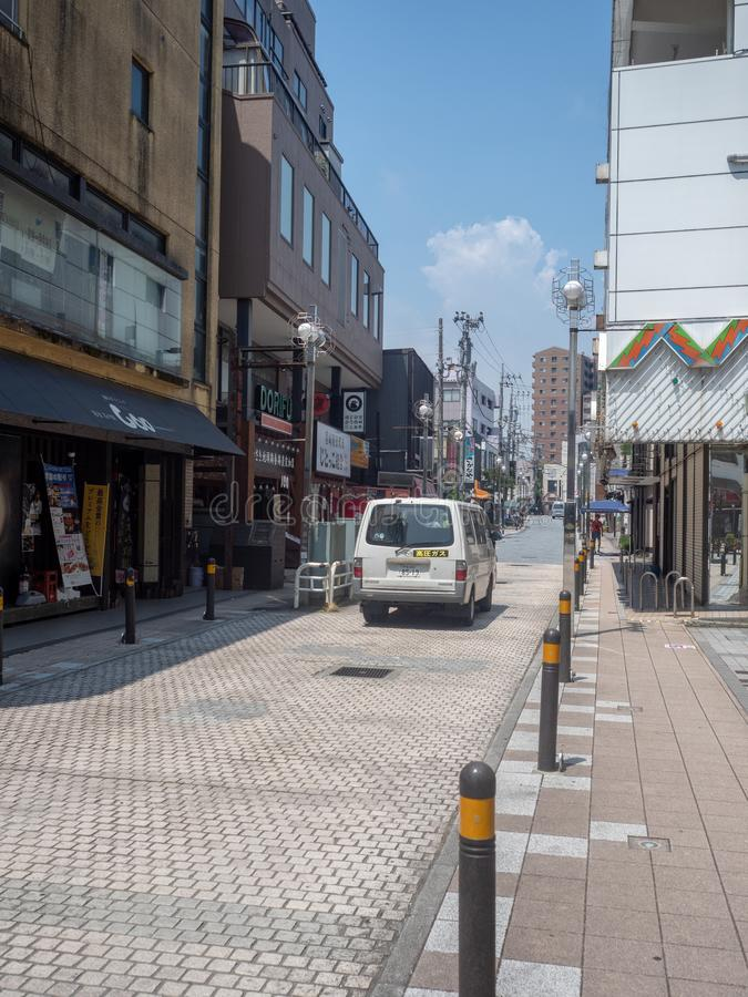Gotenba-shi, rue de Shizuoka-ken dans Gotemba, Japon photographie stock libre de droits