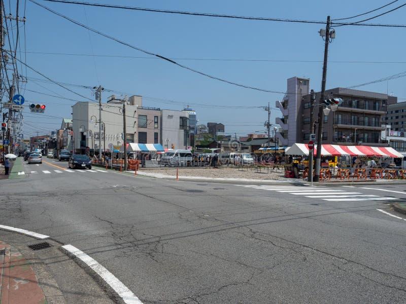 Gotenba-shi, rue de Shizuoka-ken dans Gotemba, Japon photos libres de droits