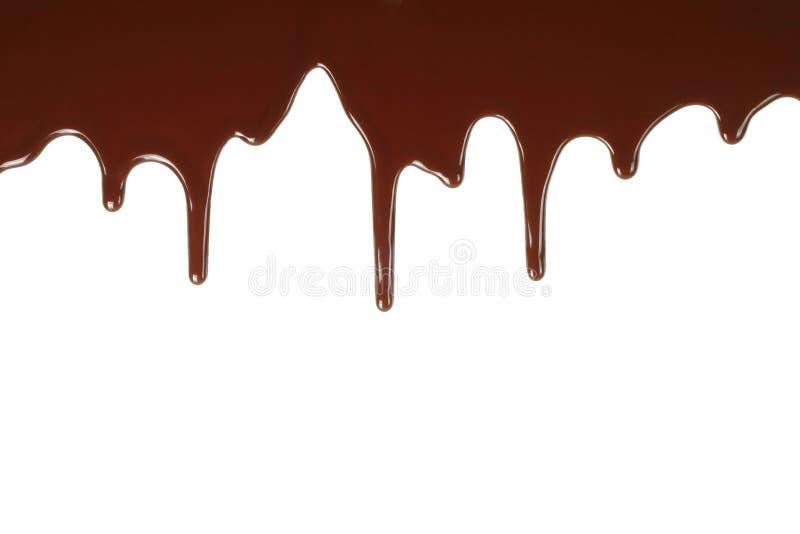 Goteo de fusión del chocolate foto de archivo