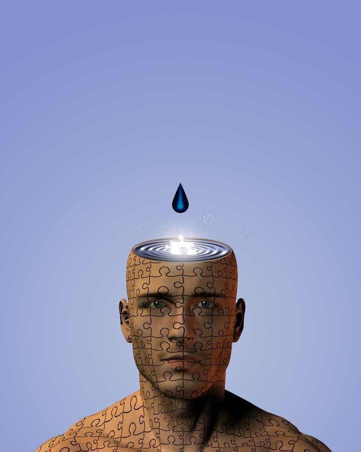 Goteo de la mente stock de ilustración