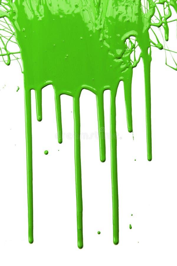 Goteo verde de la pintura fotografía de archivo libre de regalías