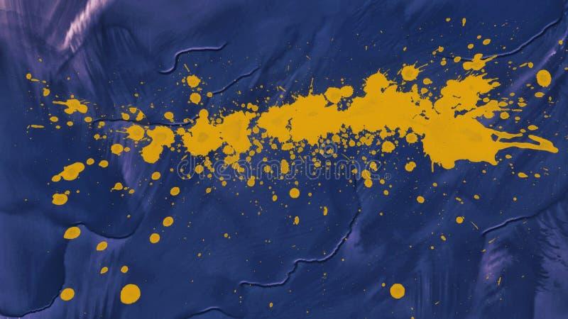 Goteos de la salpicadura de la acuarela Pintura abstracta Petróleo en lona Textura del fondo foto de archivo libre de regalías