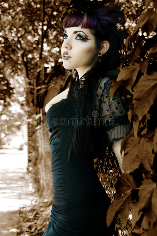 Goth女装设计 库存图片
