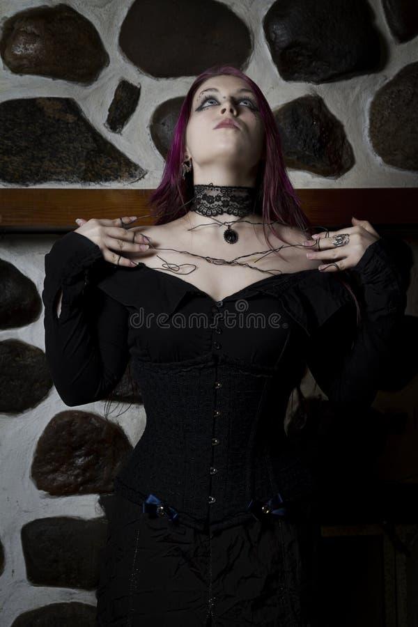 goth巫婆 免版税库存图片