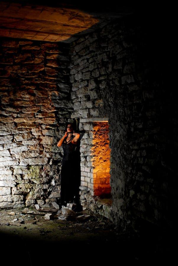 goth που παγιδεύεται κορίτ&sigma στοκ εικόνα