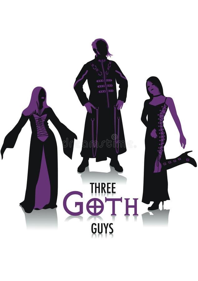 goth σκιαγραφίες απεικόνιση αποθεμάτων