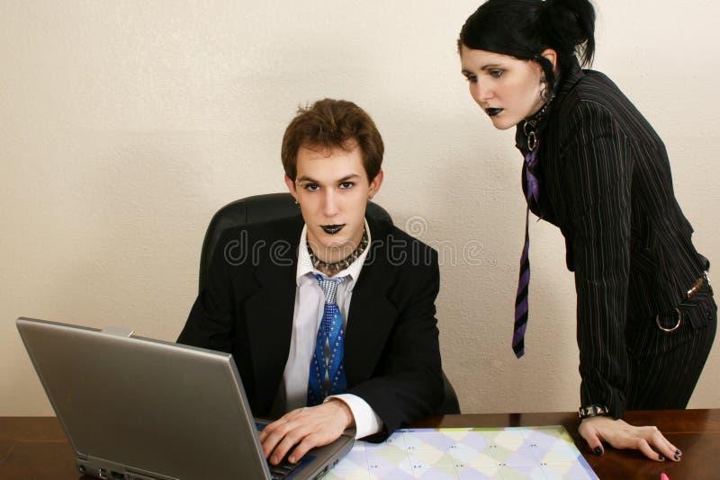 Goth Business Team stock photos