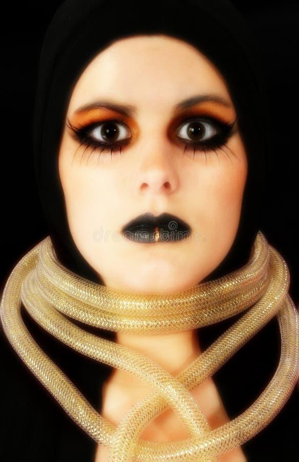 Goth Face stock photos
