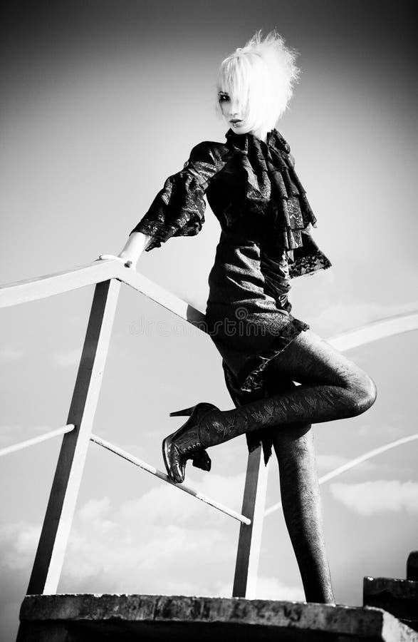 Goth Frau stockbilder