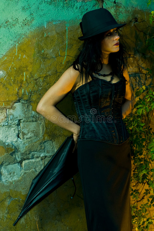 Goth Girl royalty free stock images