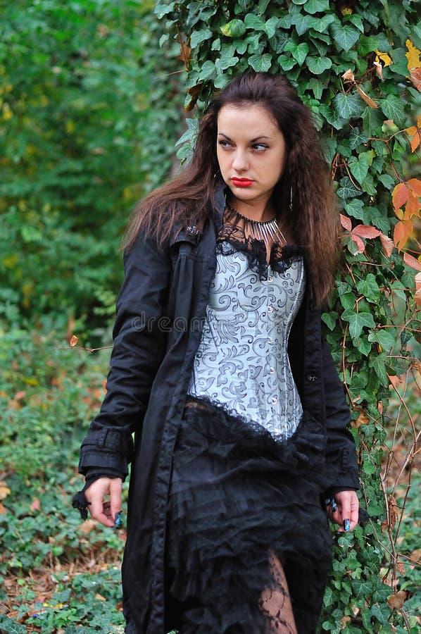 Goth girl stock photos