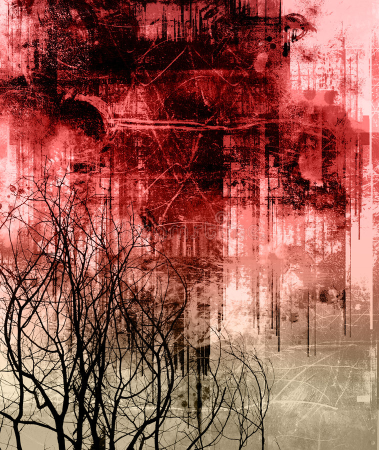 Goth grunge royalty free illustration