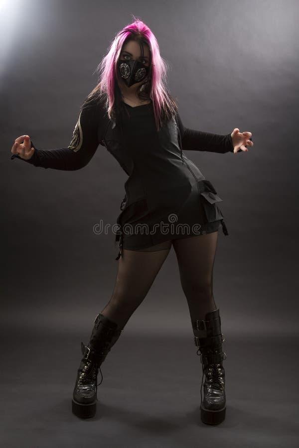 Goth loco imagen de archivo