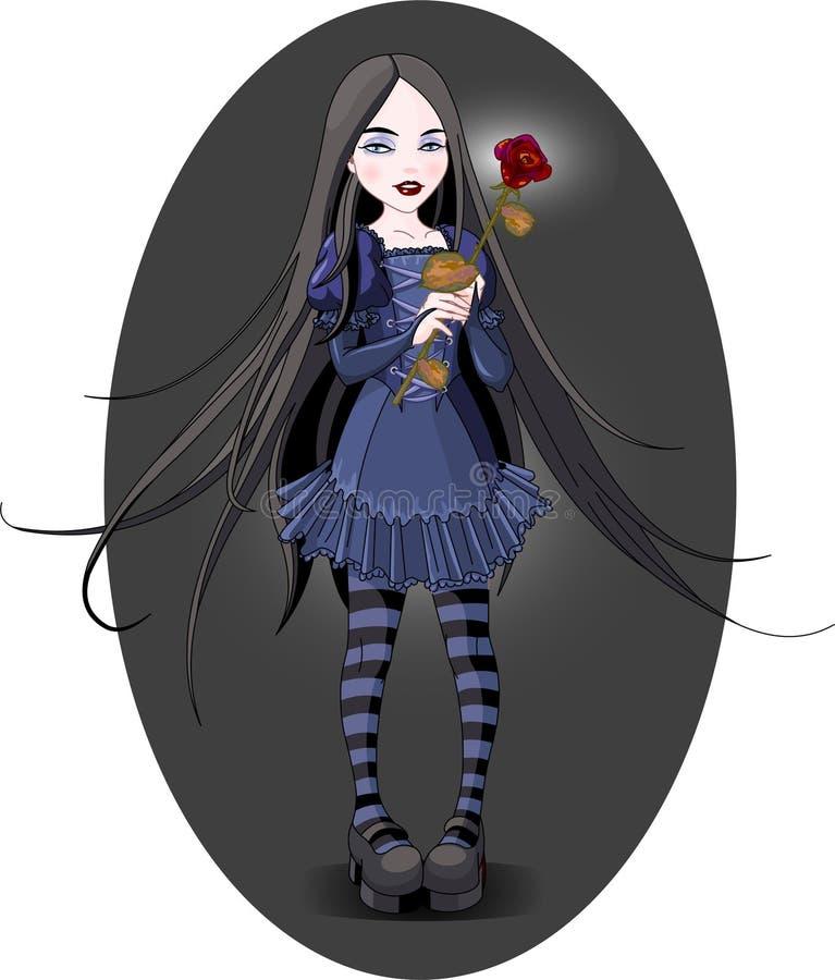Goth Mädchen lizenzfreie abbildung