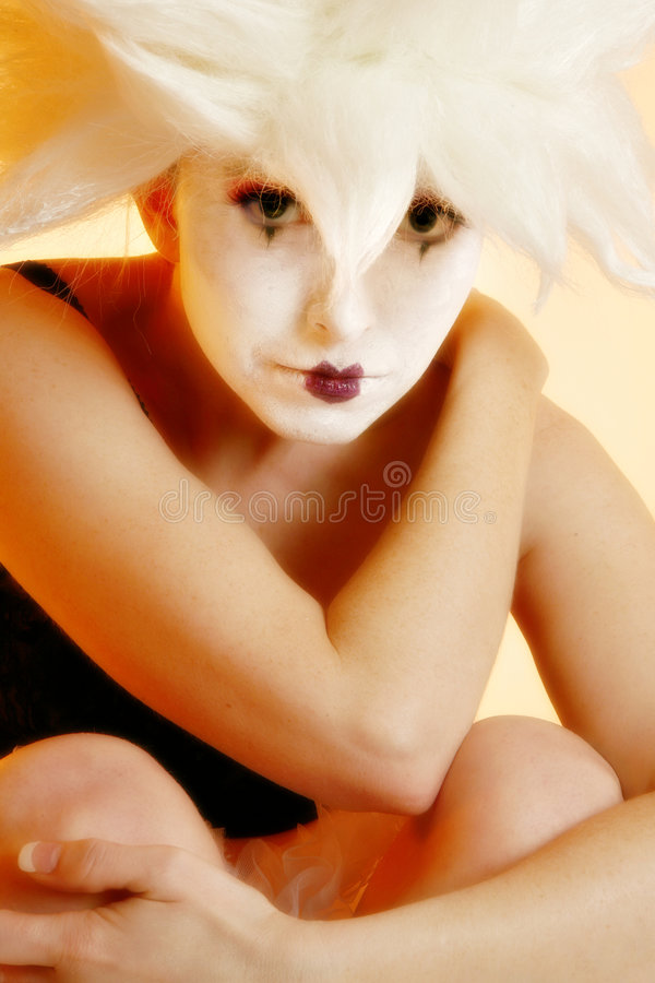 goth mime στοκ εικόνα