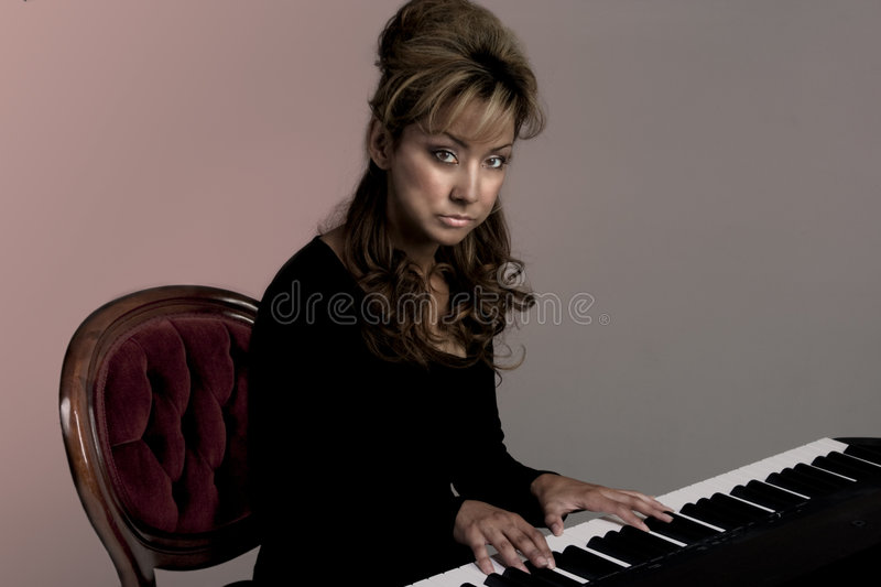 Goth Musician Stock Photography