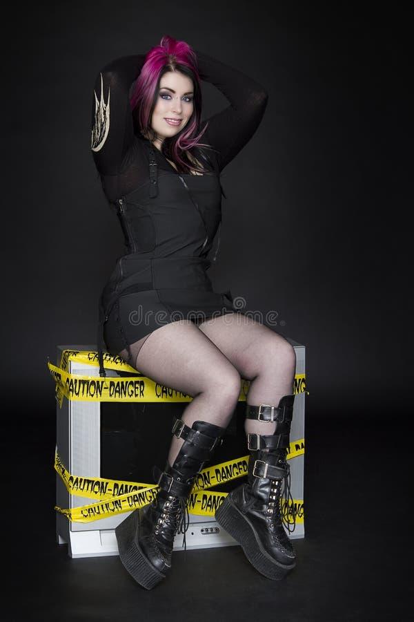 Goth Pinup stock foto