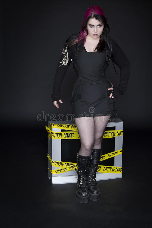 Goth Pinup stock foto's