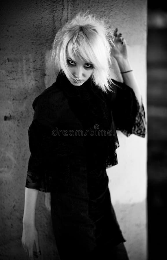goth portreta kobieta zdjęcie royalty free