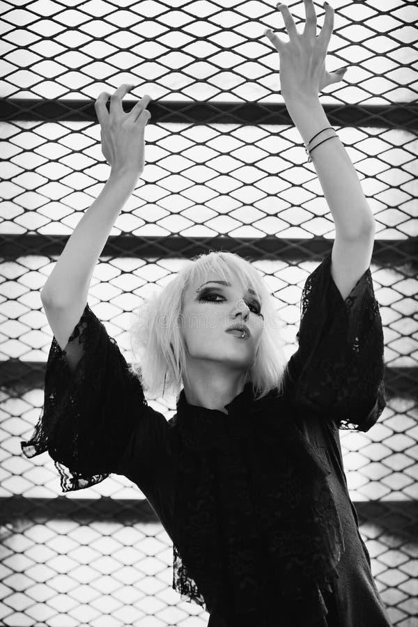 goth portreta kobieta zdjęcia stock