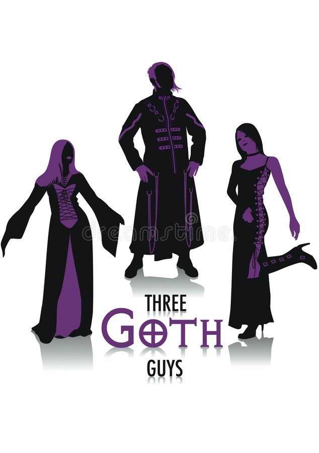 goth sylwetki ilustracji