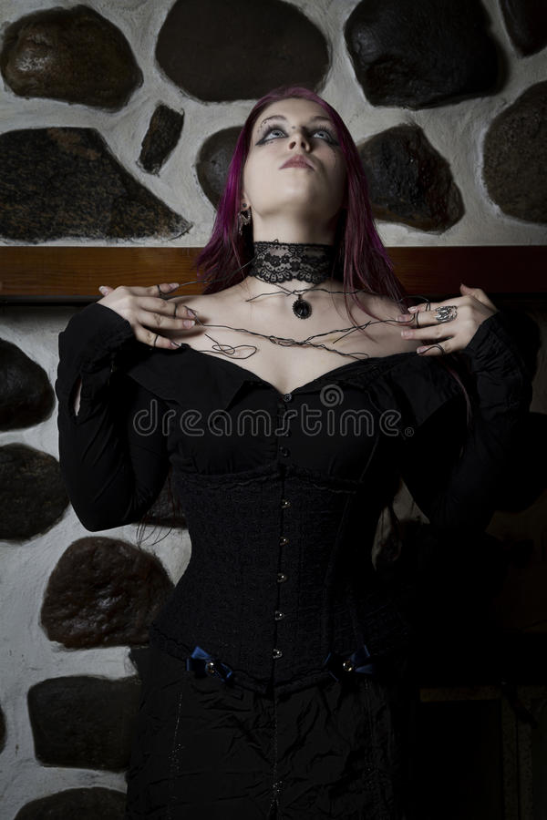 Download Goth witch stock photo. Image of black, model, mystical - 20963726