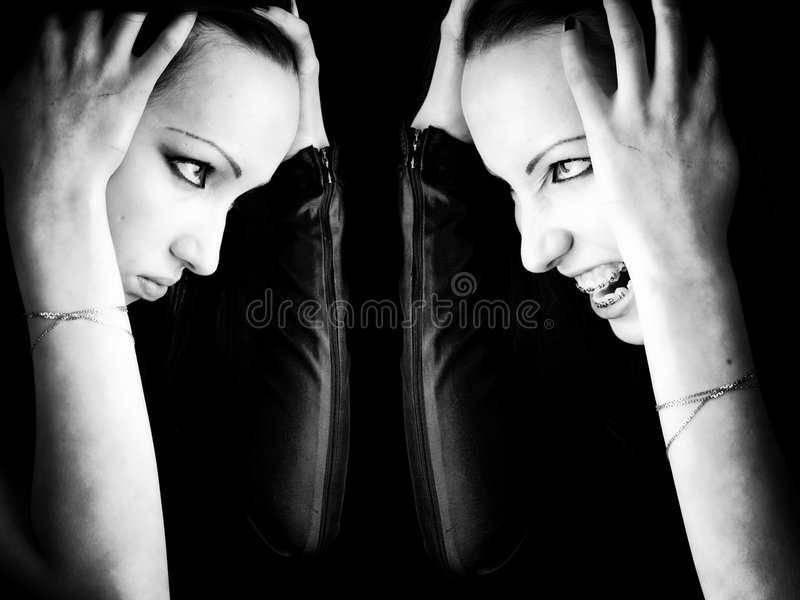 Goth Woman Double Portrait Royalty Free Stock Photography