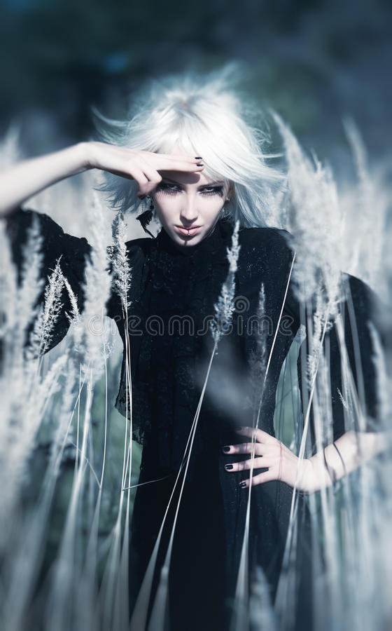 Free Goth Woman Outdoors Portrait Royalty Free Stock Image - 15016886