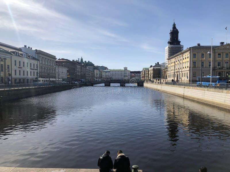 Gothenburg, canal de Suecia fotografía de archivo libre de regalías