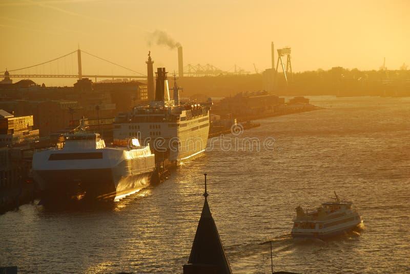 Gothenburg-Hafen, Schweden lizenzfreie stockfotografie