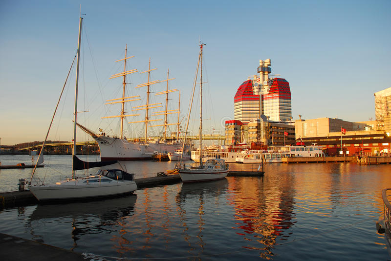 gothenburg hamn sweden royaltyfri foto