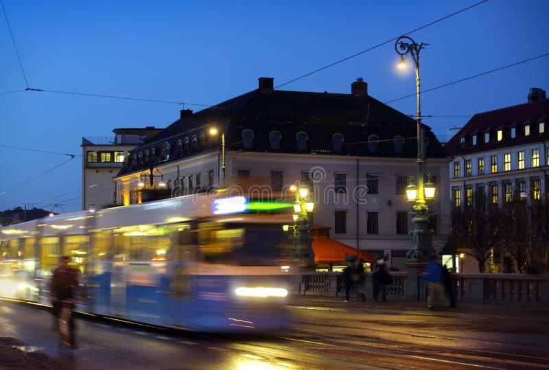 Gothenburg at night stock images