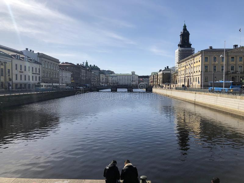Gothenburg, Sweden canal. Canal in Gothenburg, Sweden royalty free stock photography