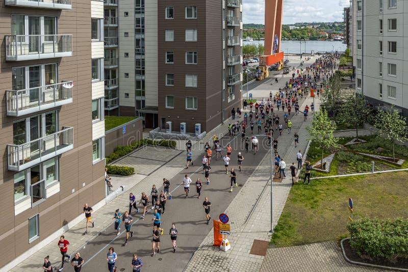 Gothenburg, Sweden - May 18 2019 Gothenburg half marathon royalty free stock photos