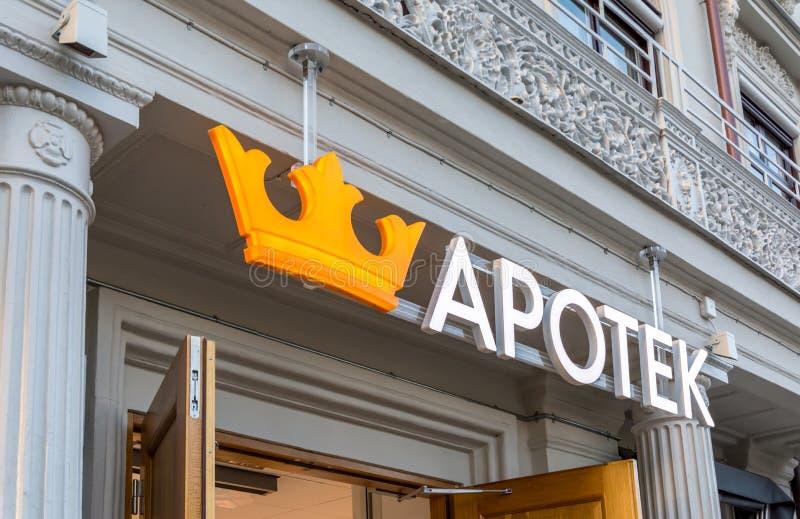 Gothenburg, Sweden - September 28, 2017: The Logo of Swedish Che. Mist Named Kronans Apotek royalty free stock image