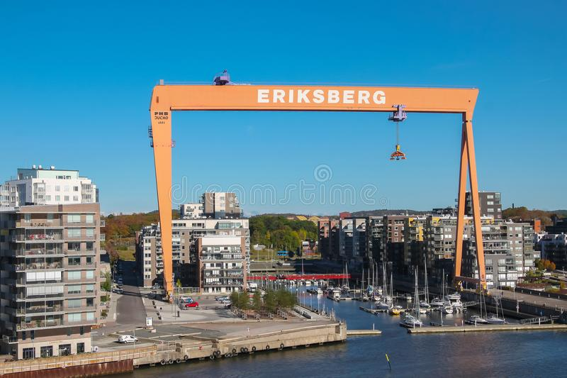 Gothenburg, Sweden on the water stock image