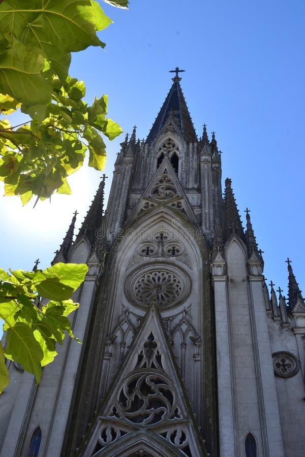 Gothi-Kirche in der Sonne stockfoto