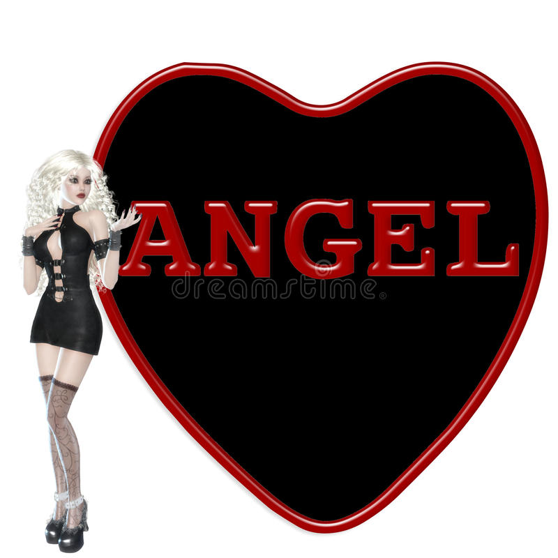 Download Gothic Angel stock illustration. Image of valentine, texture - 12739051