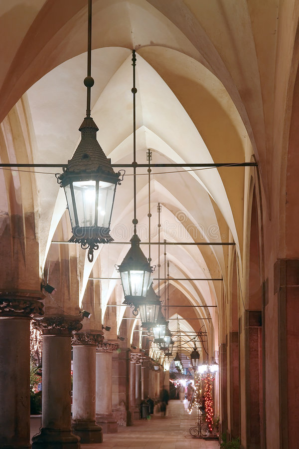 Download Gothic arcades by night stock image. Image of arcades - 1669455