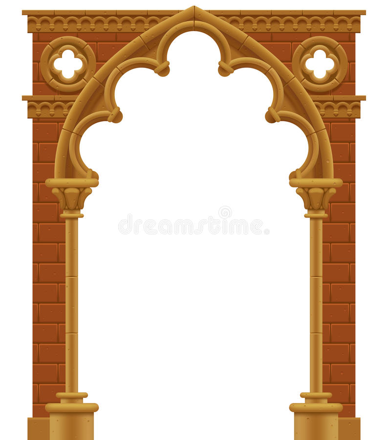 Download Gothic arch stock vector. Image of building, gate, illustration - 25825628