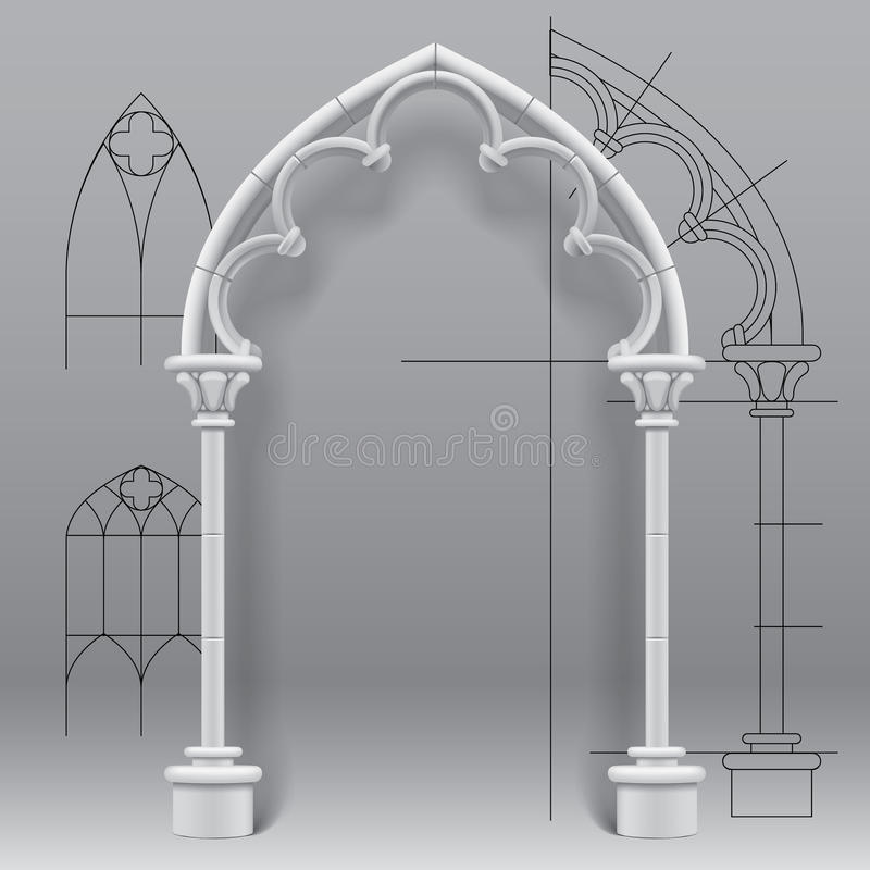 Download Gothic Arch Stock Vector Illustration Of Gate Background