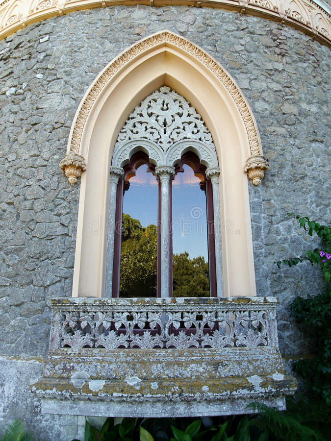Free Gothic Arched Window In The Castle. Royalty Free Stock Photo - 78765175