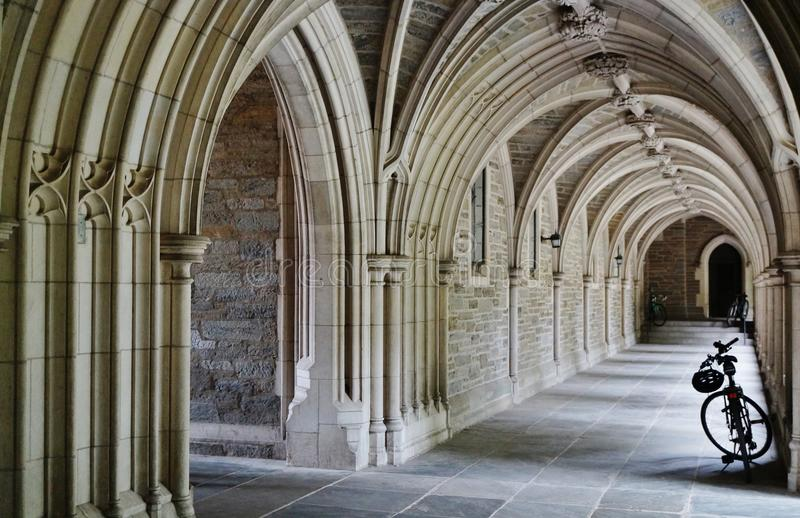 Gothic arches at Princeton University. PRINCETON, NJ -22 SEPTEMBER 2015- Princeton University, a private Ivy League research university in New Jersey, has been stock photos