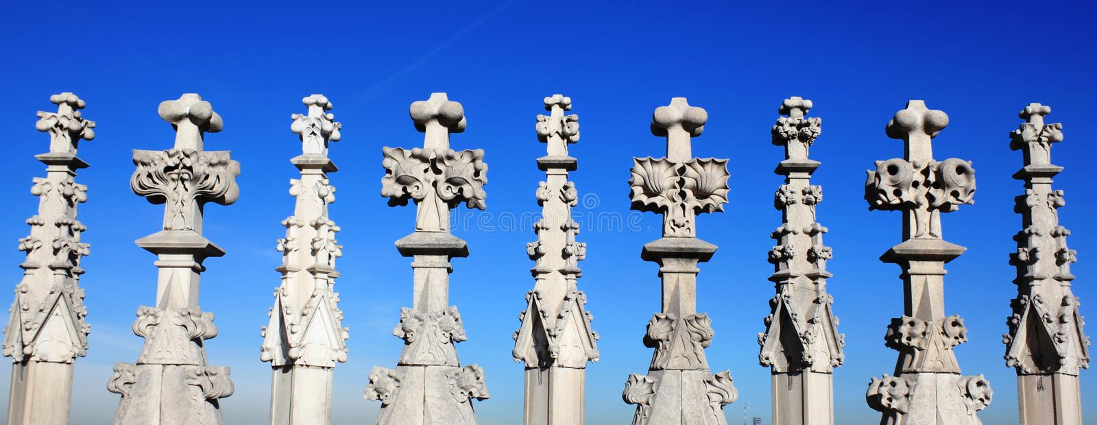 Download Gothic Architecture Details Stock Photo