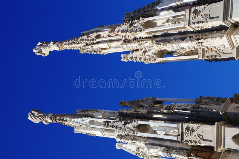 Gothic architecture details royalty free stock image