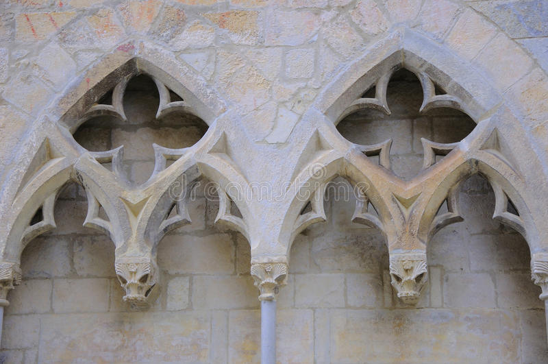 Gothic Architecture Details Stock Photo