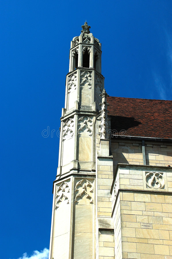 Gothic Architecture Style Building. This picture was taken at a church in Indianapolis. Gothic architecture is a style of architecture which flourished during stock photo